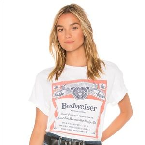 Junk food budweiser tee small